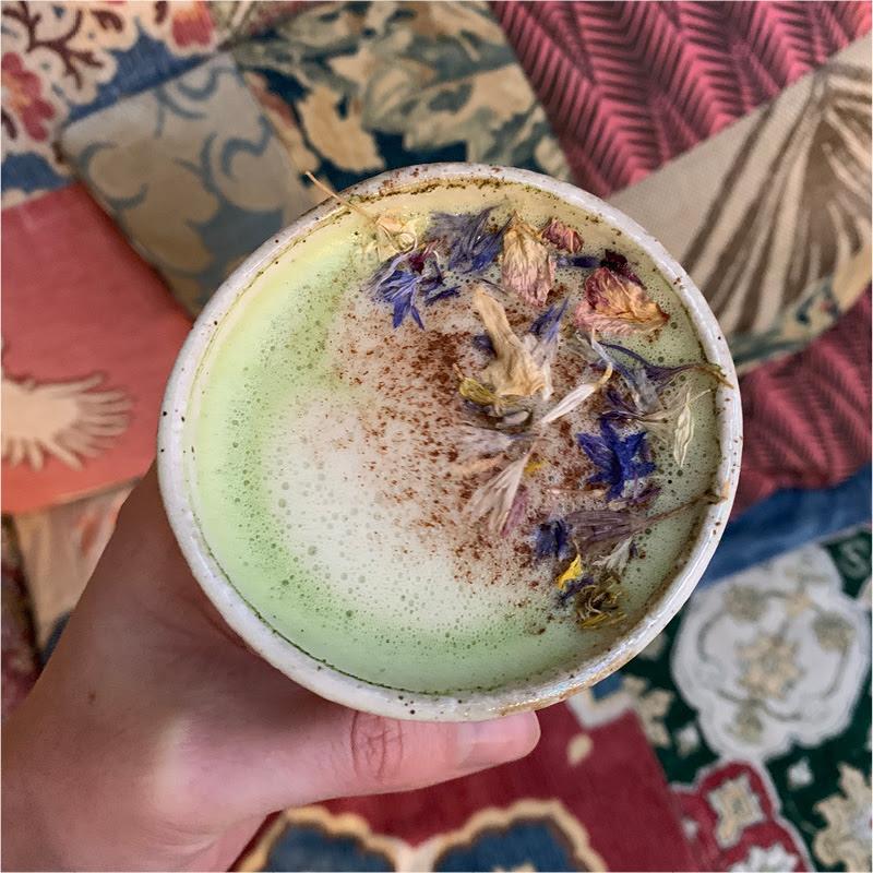 Yogahome cafe - matcha latte